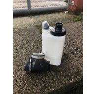 Uneaq Bottle - Black - Complete With Sawyer Filter Adaptor And Spill Proof Cap